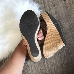 UGG Shoes - UGG 'tawnie' chocolate suede espadrille wedges